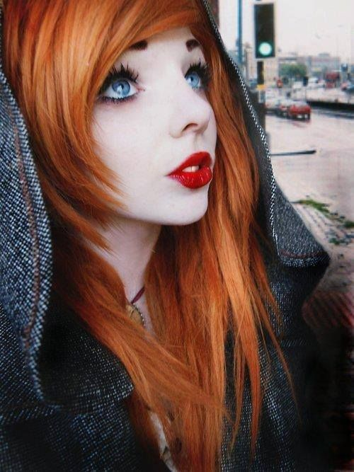 fiery orange hair emo