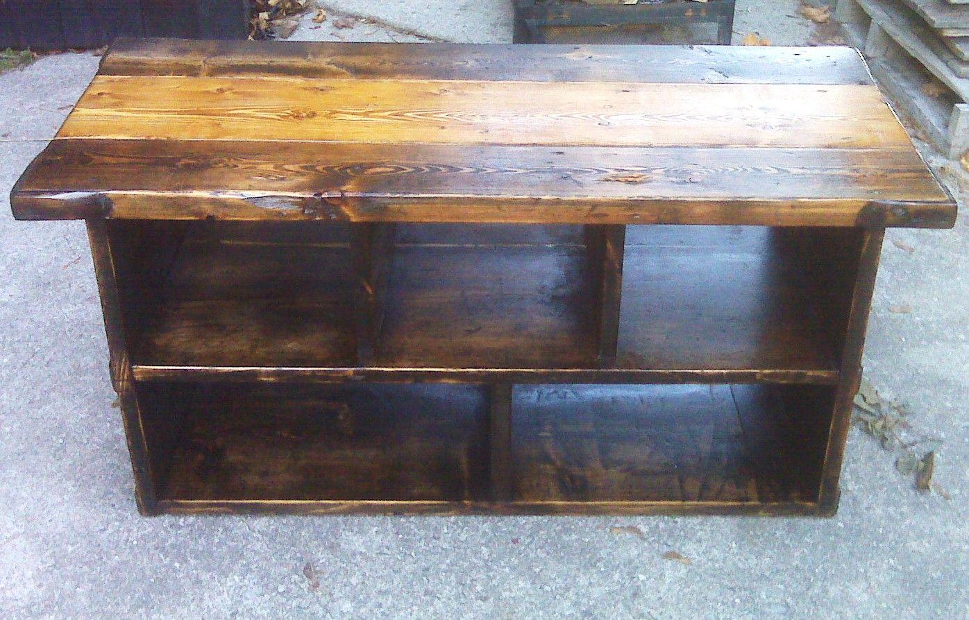 Rustic Barn Wood TV Console | Tv console diy, Diy tv stand ...