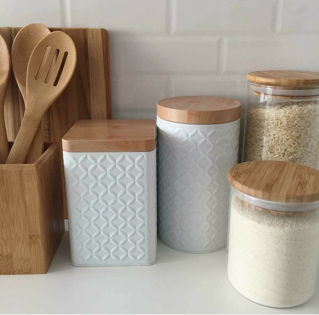 Photo of Love these canisters,  #Canisters #diykitchenideasorganizing #love