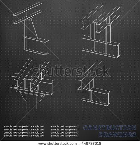 3d metal construction the beams and columns cover background for 3d metal construction the beams and columns cover background for inscriptions construction drawings black points malvernweather Choice Image