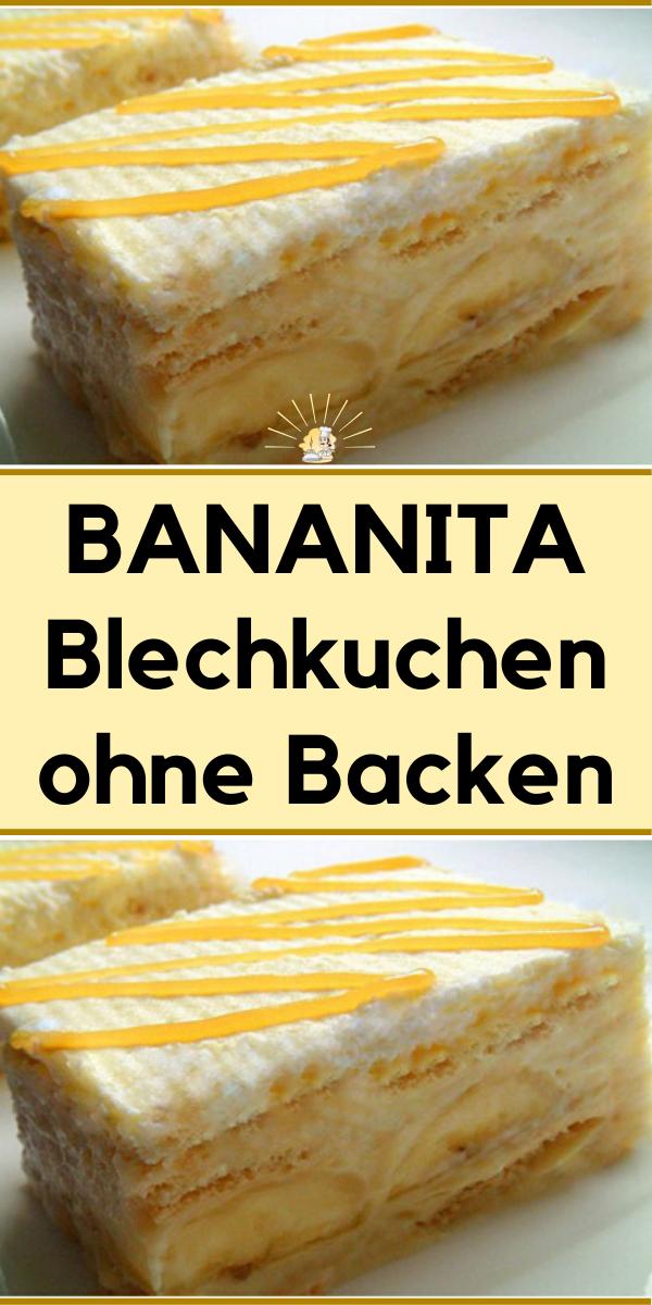 Bananita Blechkuchen Ohne Backen Jettie Kuchenrezepte2020 In 2020 Butterkeks Kuchen Ohne Backen Kuchen Kuchen Ohne Backen