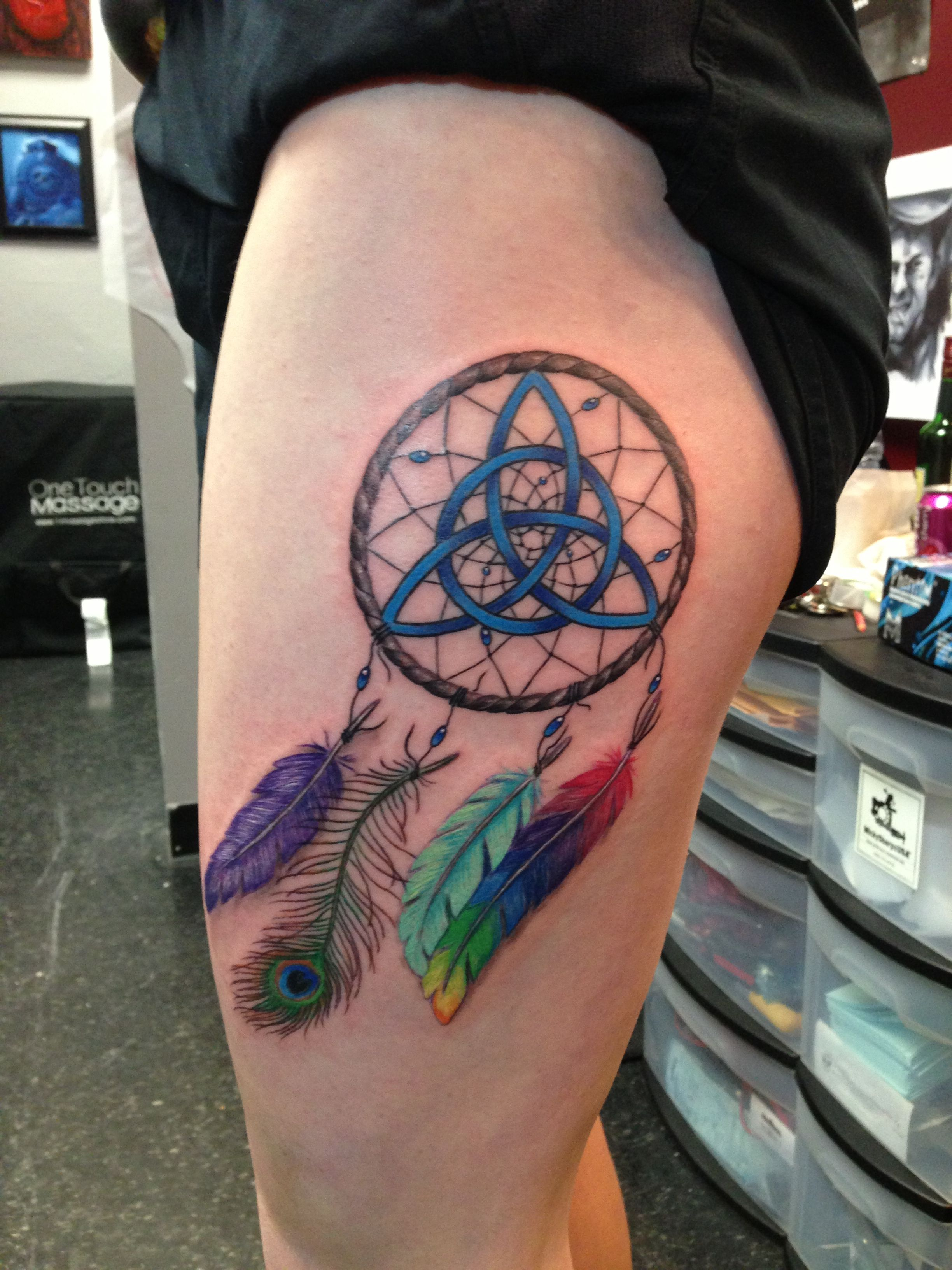 e7a7984556738 Irish and colorful Dreamcatcher tattoo for my birthday! It's perfect ...