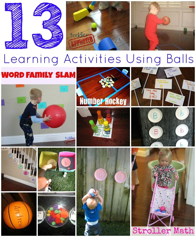 Toddler Approved!: 13 Simple Learning Activities Using Balls. Do you have any other favorite learning activities you've tried using balls?