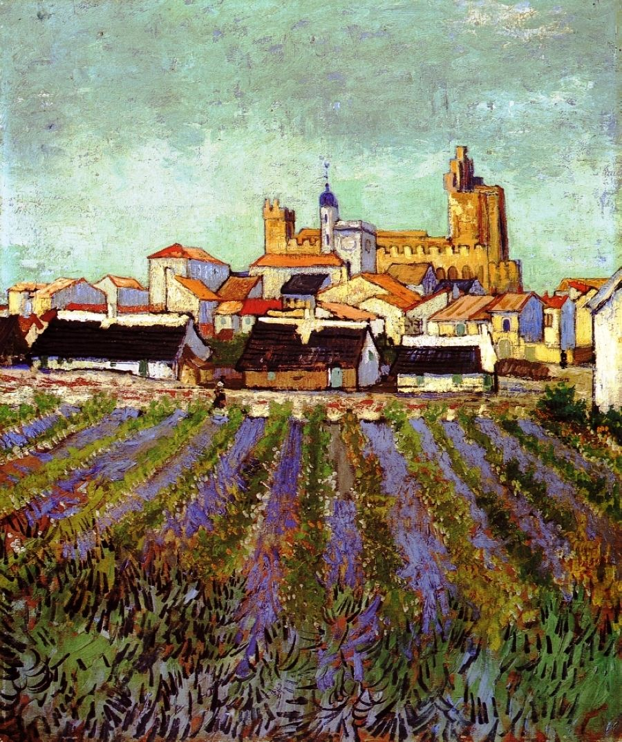 View of Saintes-Maries, 1888.      Vincent van Gogh