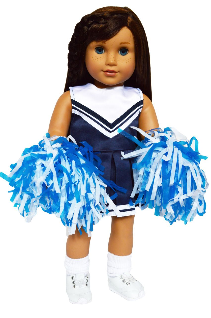 My Brittany's Blue and White Cheerleader for American Girl Dolls-18 Inch Doll Clothes #18inchcheerleaderclothes