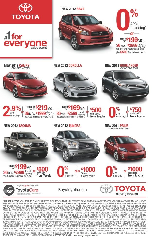If You Are In The Market For A New Vehicle Don T Miss The Toyota Sales Event So Many Great Deals