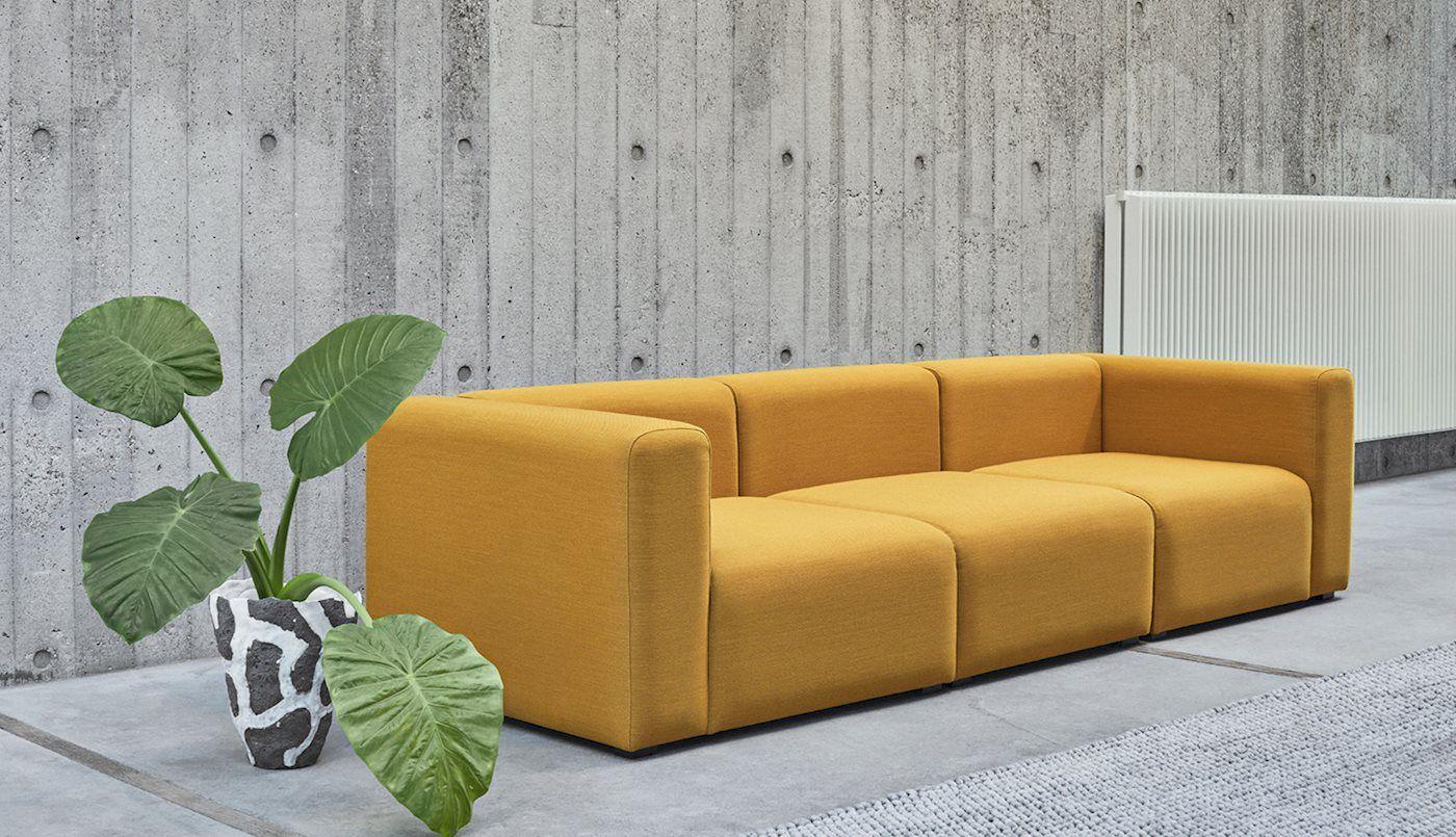 Brilliant Mags 3 Seater Combination 1 Hay Yellow Moodboard Machost Co Dining Chair Design Ideas Machostcouk