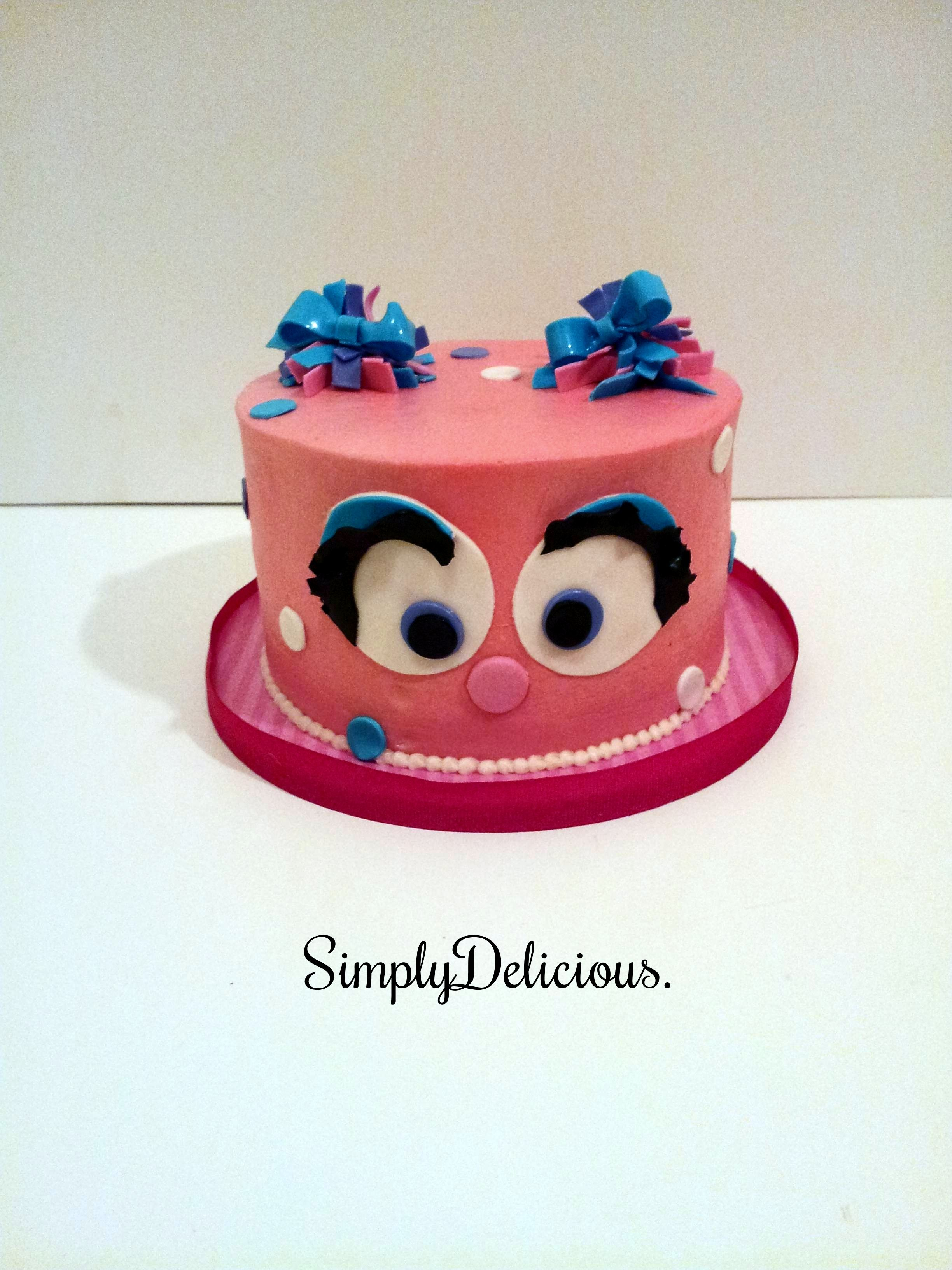 Abby Cadabby Smash cake Buttercream with fondant accents