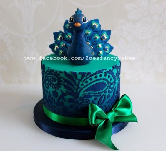 Another little peacock cake I made a little while back I used a