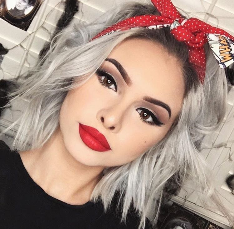 Hairstyles With Bandana Beauteous Emmvlouise  M A K E U P  Pinterest  Makeup Hair Style And Hair
