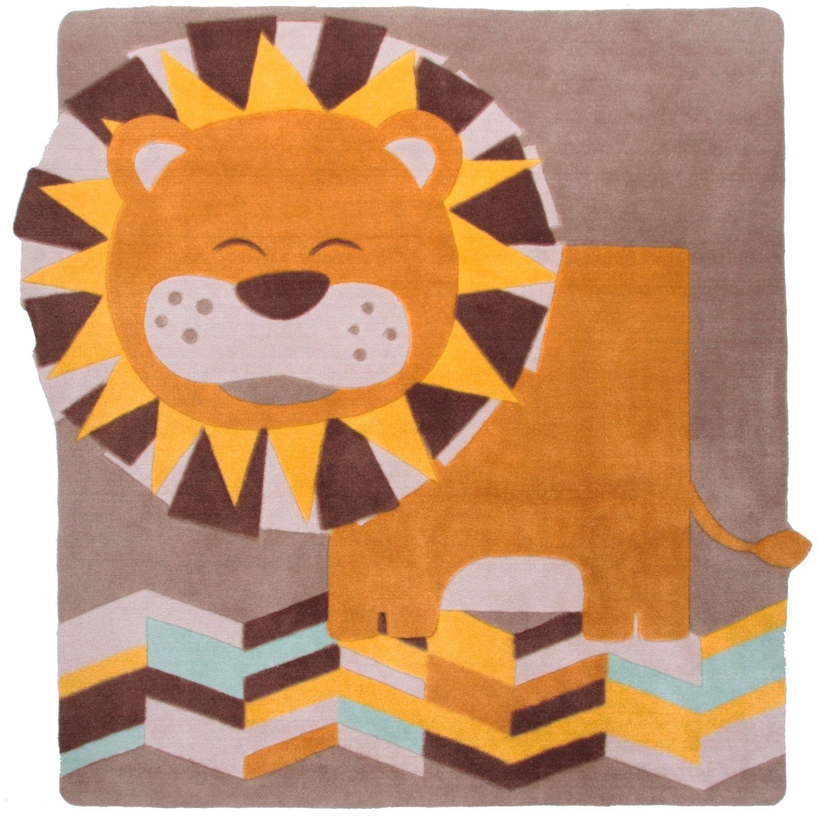 tapis lion lalo 120 x 120 cm