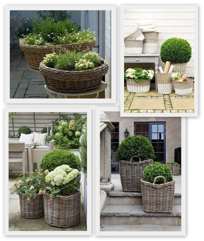 5 wiklinowe kosze doniczki garden garden shopping i for Patio arreda