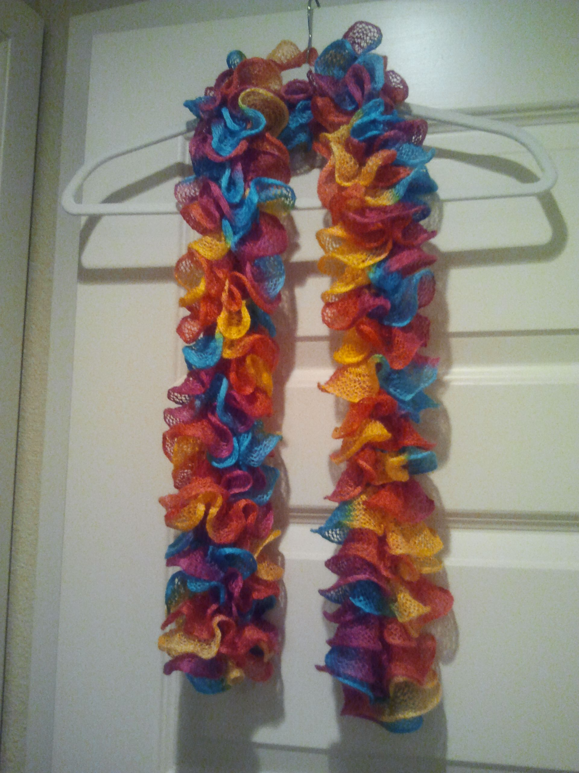 Another Fun Scarf Made With Bernat Twist And Twirl Yarn Cool