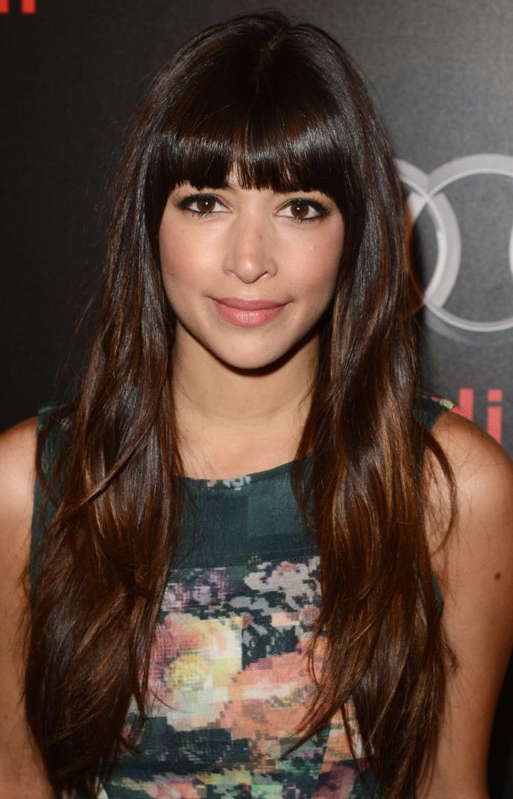 Fringe bang with long hair and layers this is my goal hope to