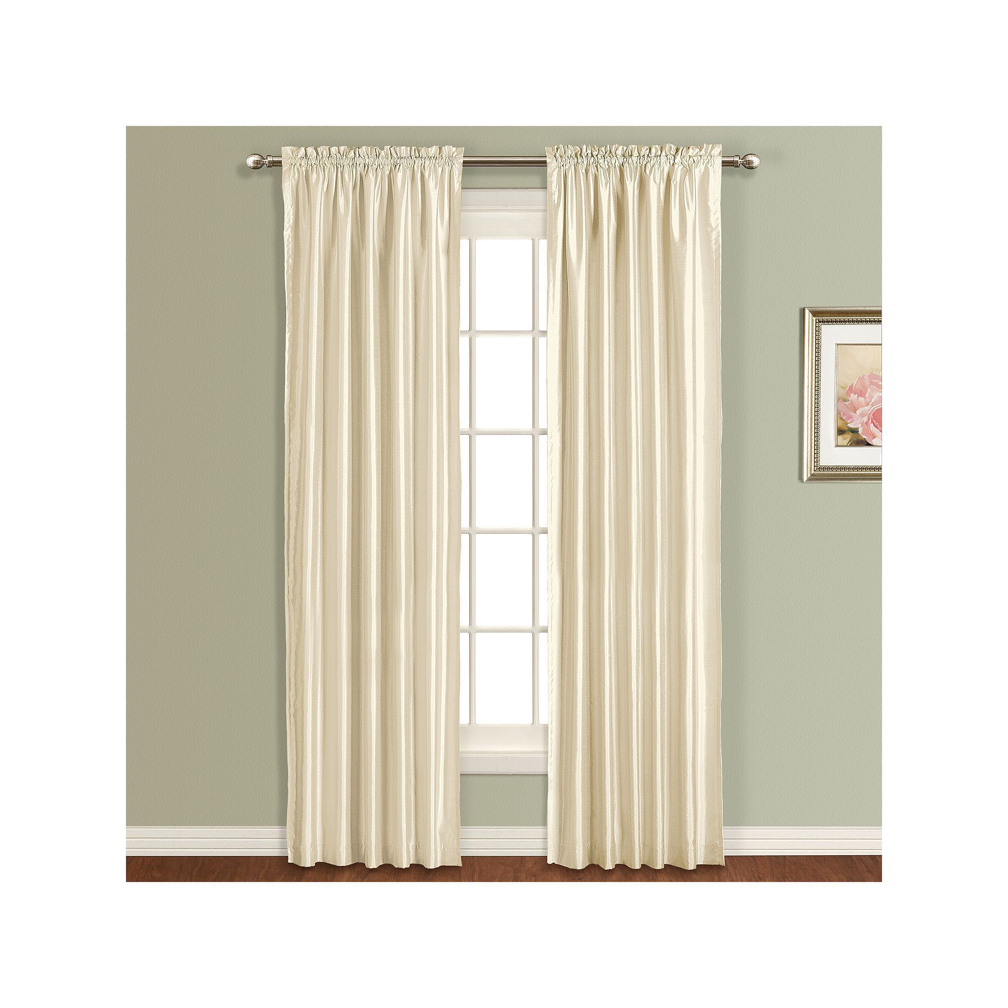 United Curtain Co Lincoln Lined Curtain, Beiggreen (Beigkhaki)