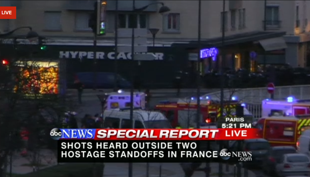 LIVE NOW: Ambulances moving toward grocery store where hostage situation taking place: http://abcn.ws/KhjETZ  09-012015