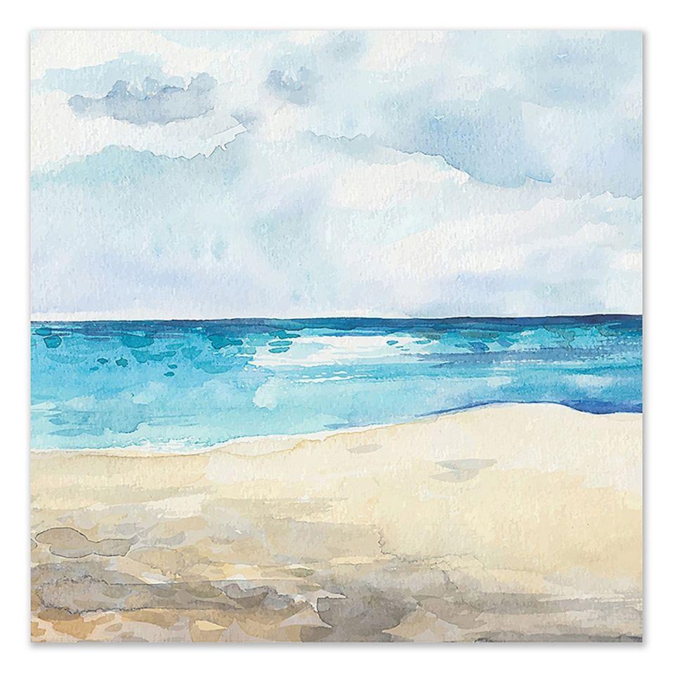 Beach Day Canvas Wall Art Multi