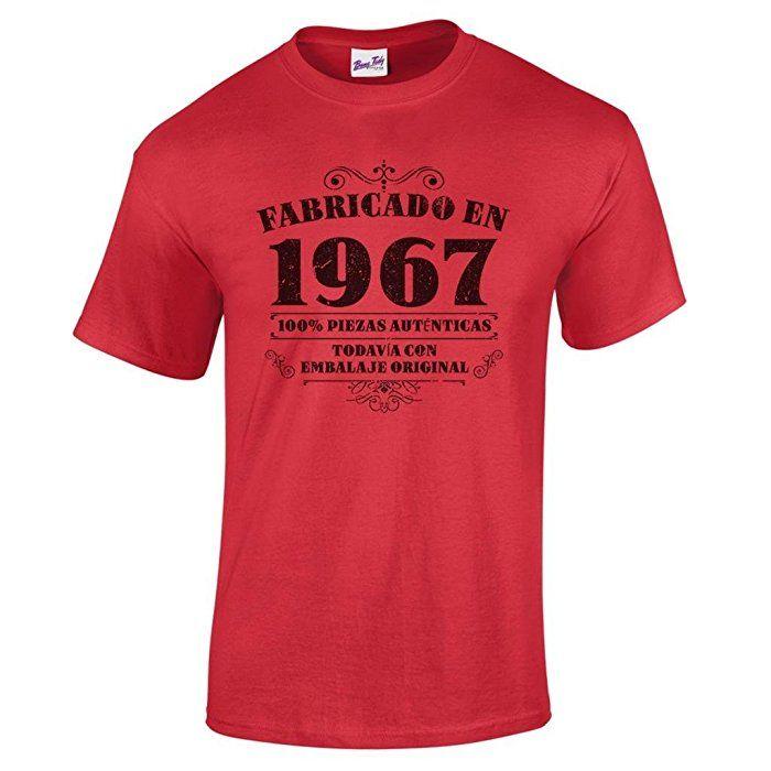 Hombre Camiseta De Regalo En Cumpleaños Para 1967 50 Manufactured 0wNmn8