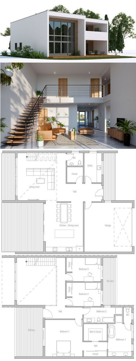 Casa moderna 4bed 2 story in 2019 maison sims for Casa moderna parquet