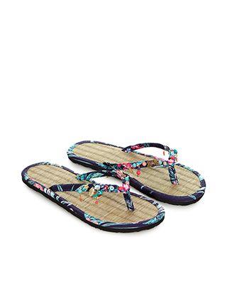 deff1ec85b03d1 Tropical Charmy Seagrass Flip Flops