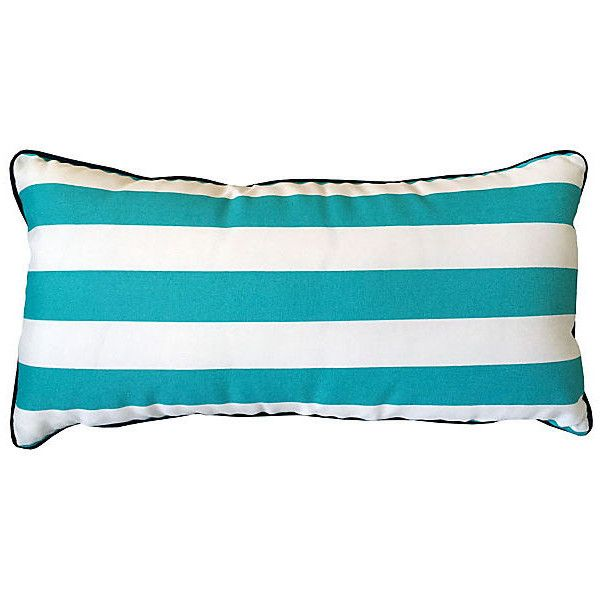 kim salmela cabana 14x28 outdoor pillow aqua decorative pillows