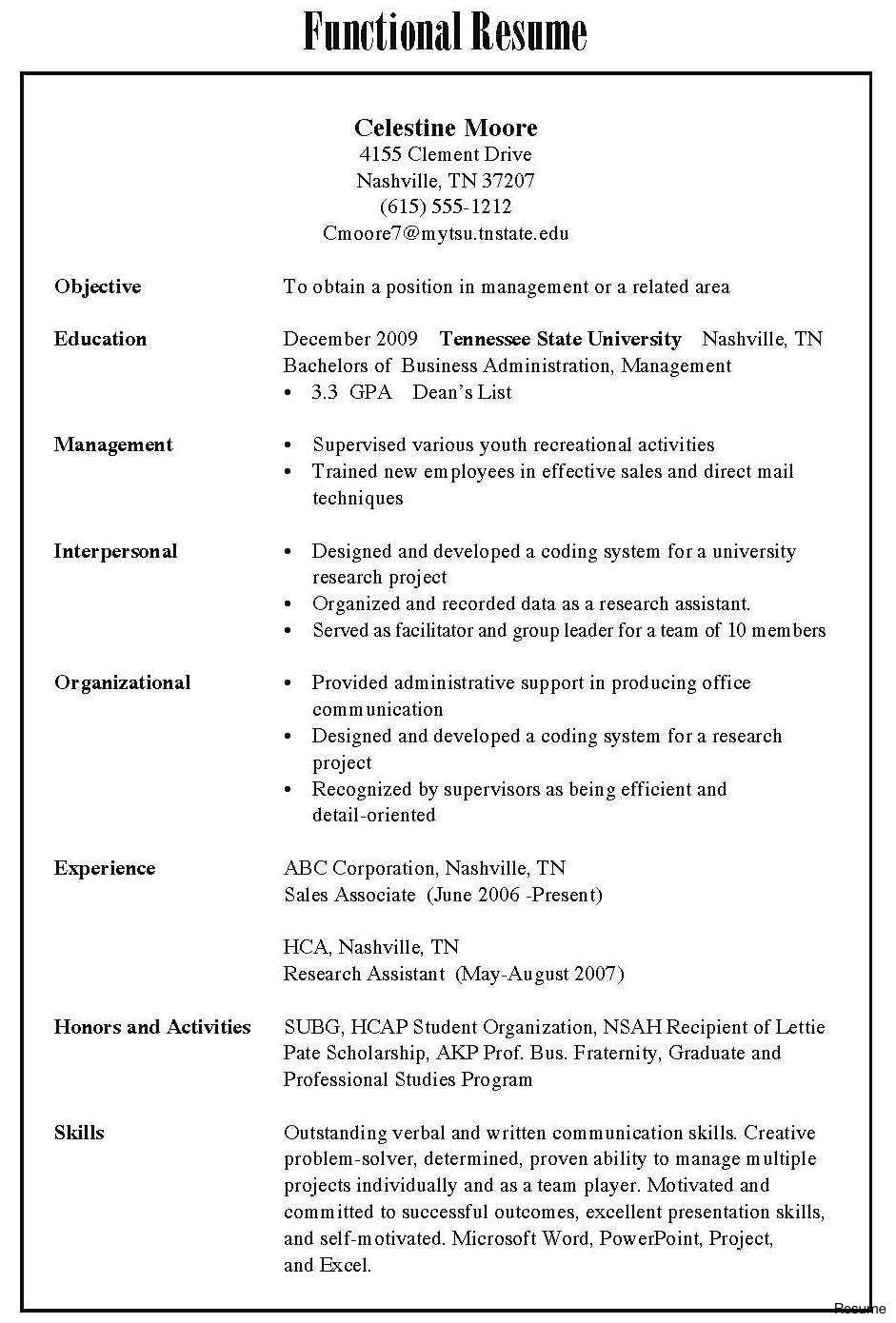 List 7 Different Resume Formats different formats