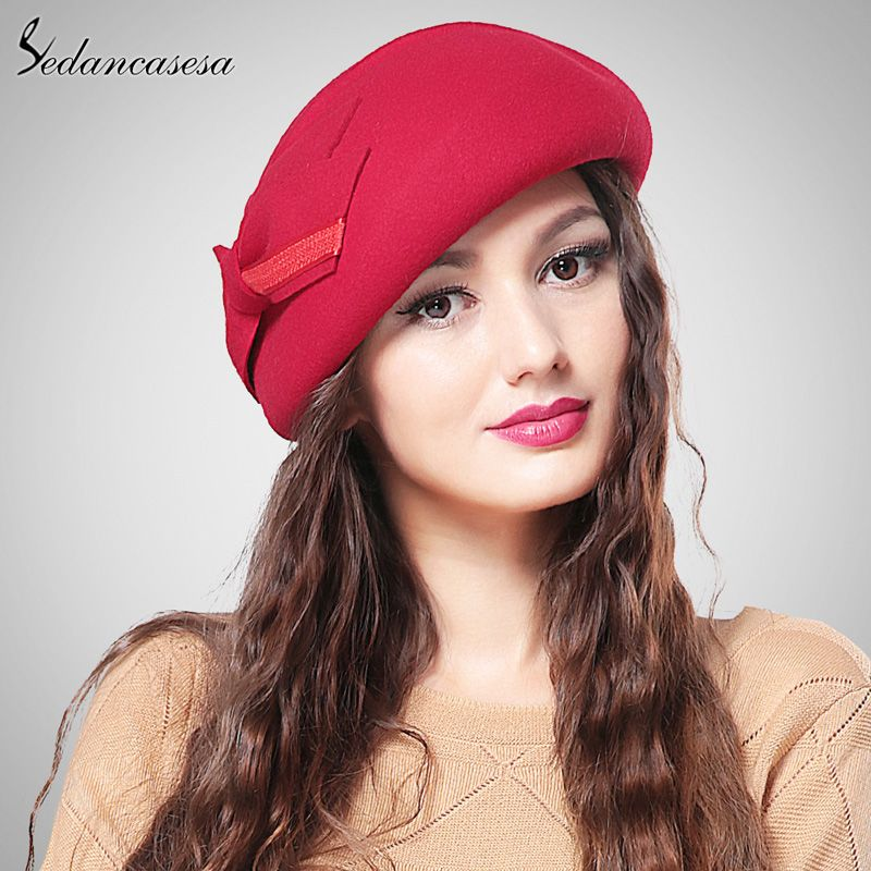 Sedancasase South Korea hat fashion women autumn winter British Berets Wool  blower hat Sweet bucket Hat wool beret Hat Like and share if you think it`s  ... 4c3fb60ae1c8