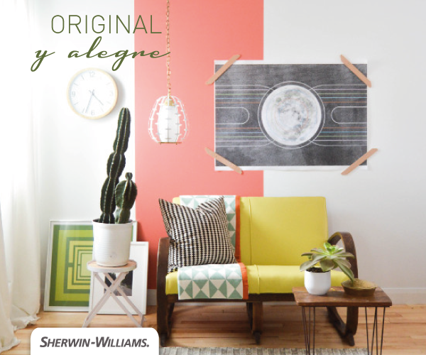 Detalles de color para un living moderno. #Pink #Color #living ...