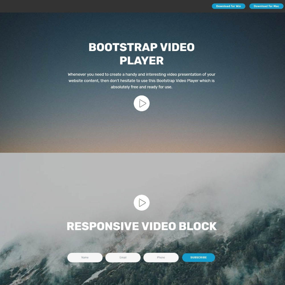 Breathtaking Css Bootstrap Carousel Video Backgrounds And Dropdown In Drop Down Menu Template Menu Template Templates Free Download Healthy Dinner Recipes Easy