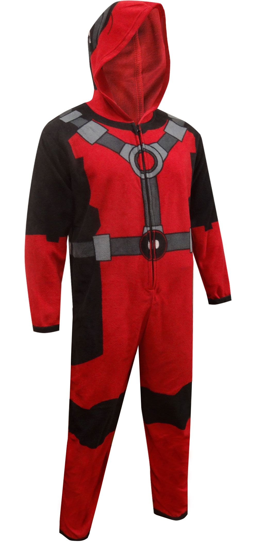 Marvel Comics Deadpool Hooded Fleece Onesie Pajama  f48089642