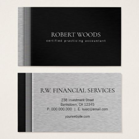 Accounting and finance professional multicolored layered steel faux accounting and finance professional multicolored layered steel faux metal business cards template accountant lawyer reheart Gallery