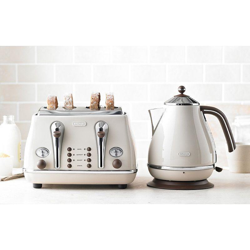 delonghi vintage icona range in kettles at lakeland kitchen toasters pinterest. Black Bedroom Furniture Sets. Home Design Ideas
