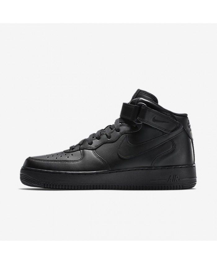 Nike Air Nike Force 1 Mid 07 Hombres Zapato Negro Nike Air Air Force 1 7310e0