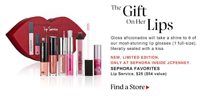 THE GIFT ON HER LIPS SEPHORA FAVORITES Lip Service, $25