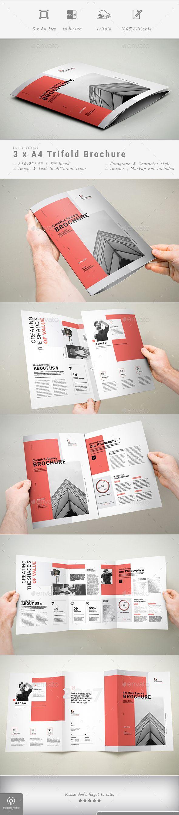 Trifold Brochure | Broschürendesign, Broschüren und Für sie