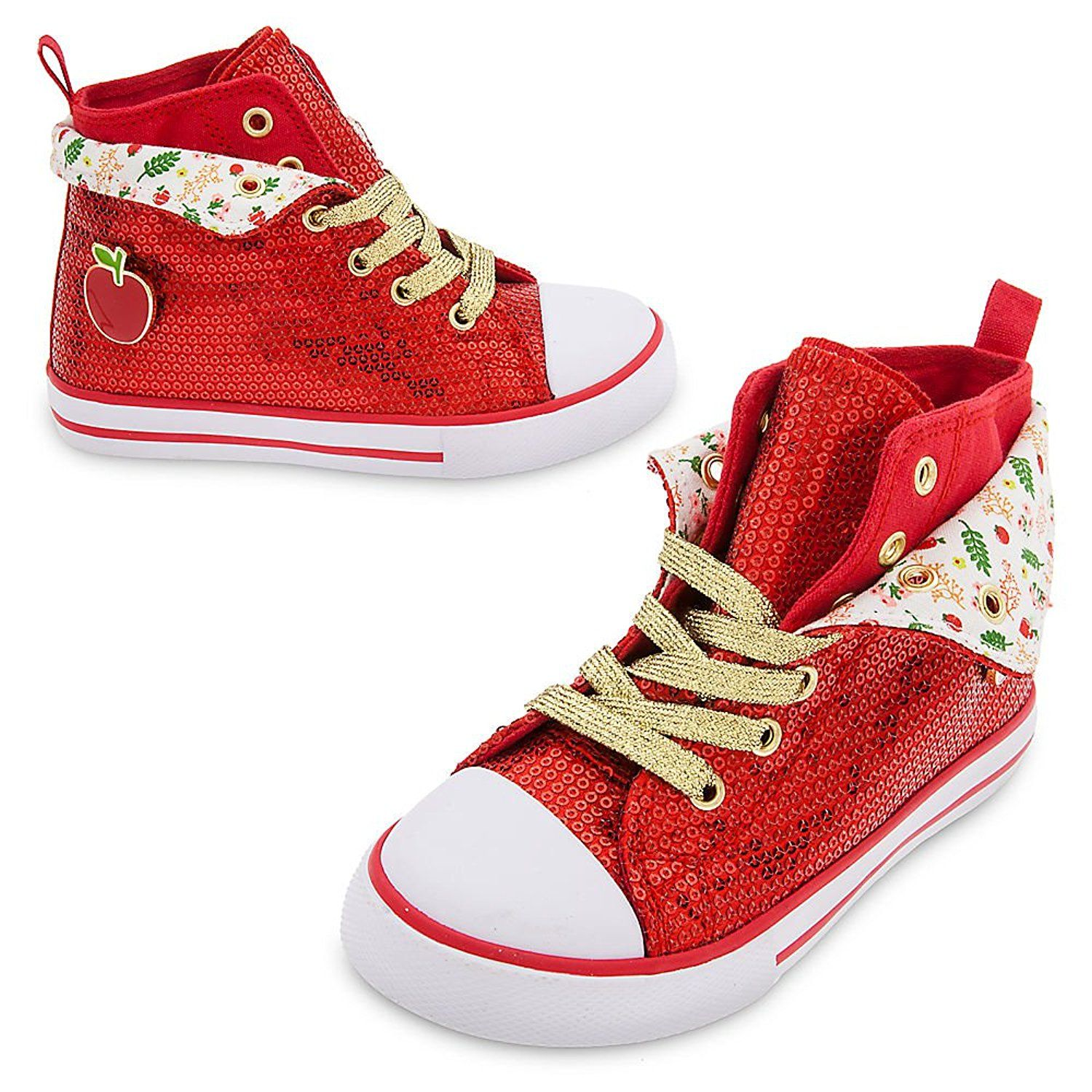 2986cebc83562 Amazon.com | Disney Snow White Sequin Sneaker for Girls Red ...