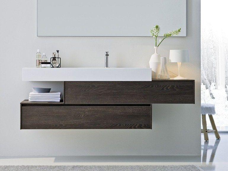 Meuble Sous Vasque Avec Tiroirs Avec Miroir Comp N02 Ideagroup Bathroom Design Luxury Washbasin Design Bathroom Furniture