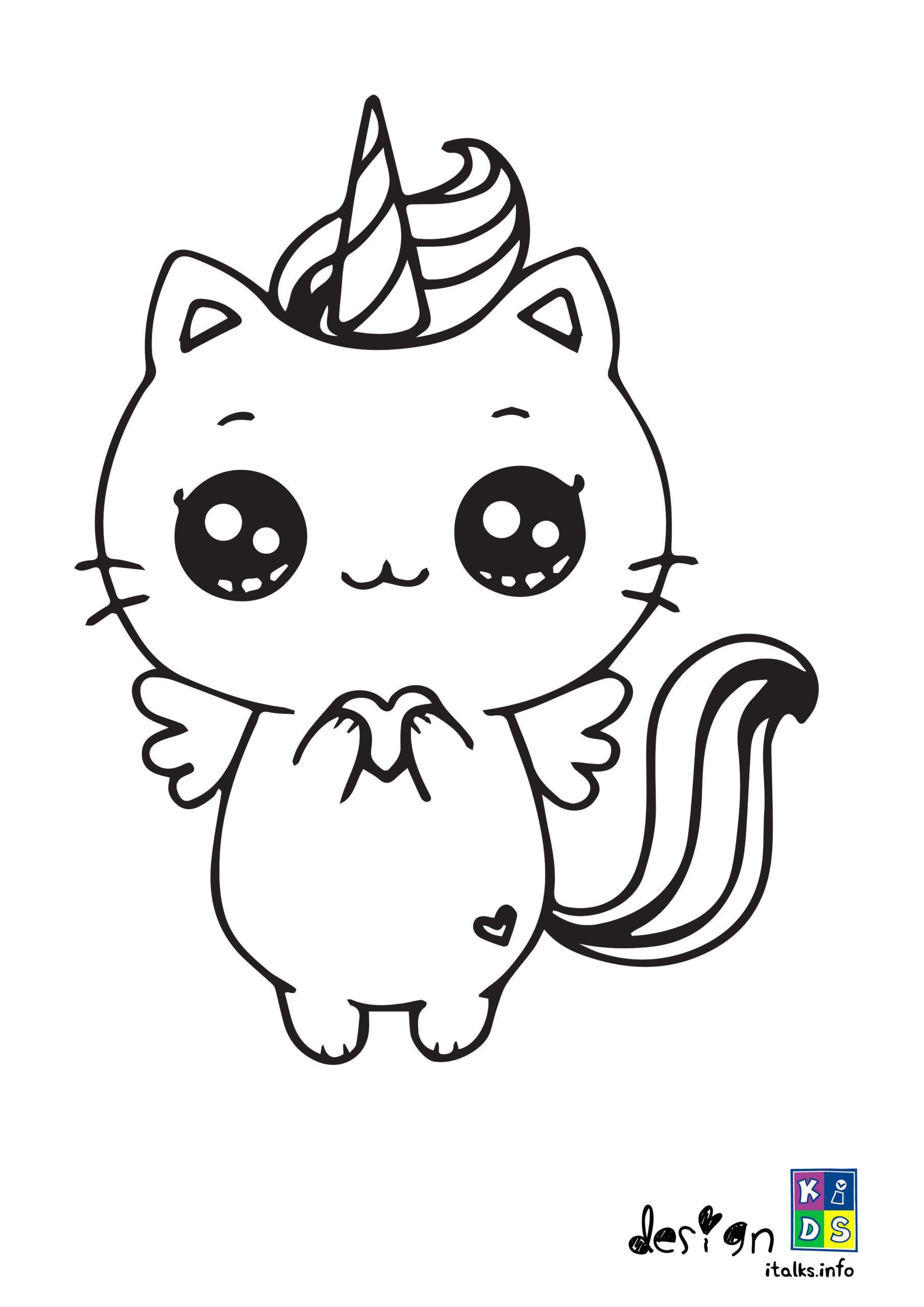 Unicorn Kawaii Coloring Pages : unicorn, kawaii, coloring, pages, Printable, Kawaii, Unicorn, Unicorn,, Wallpaper,, Printables