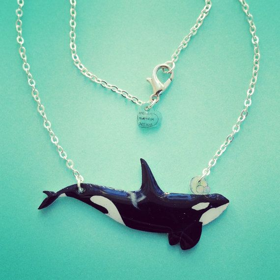 orca killer whale necklace or choker high by