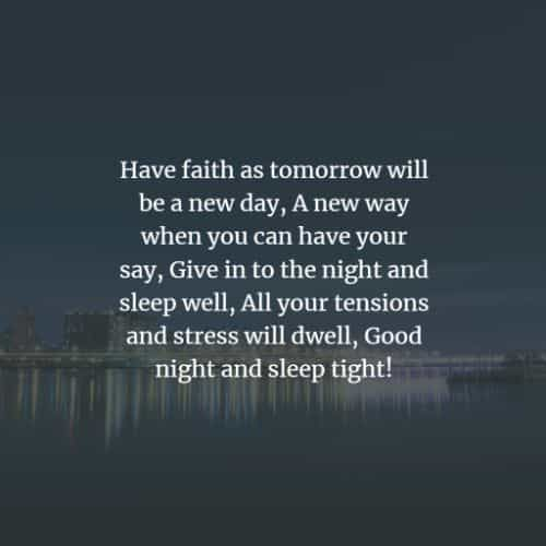 74 Beautiful good night inspirational quotes and sayings