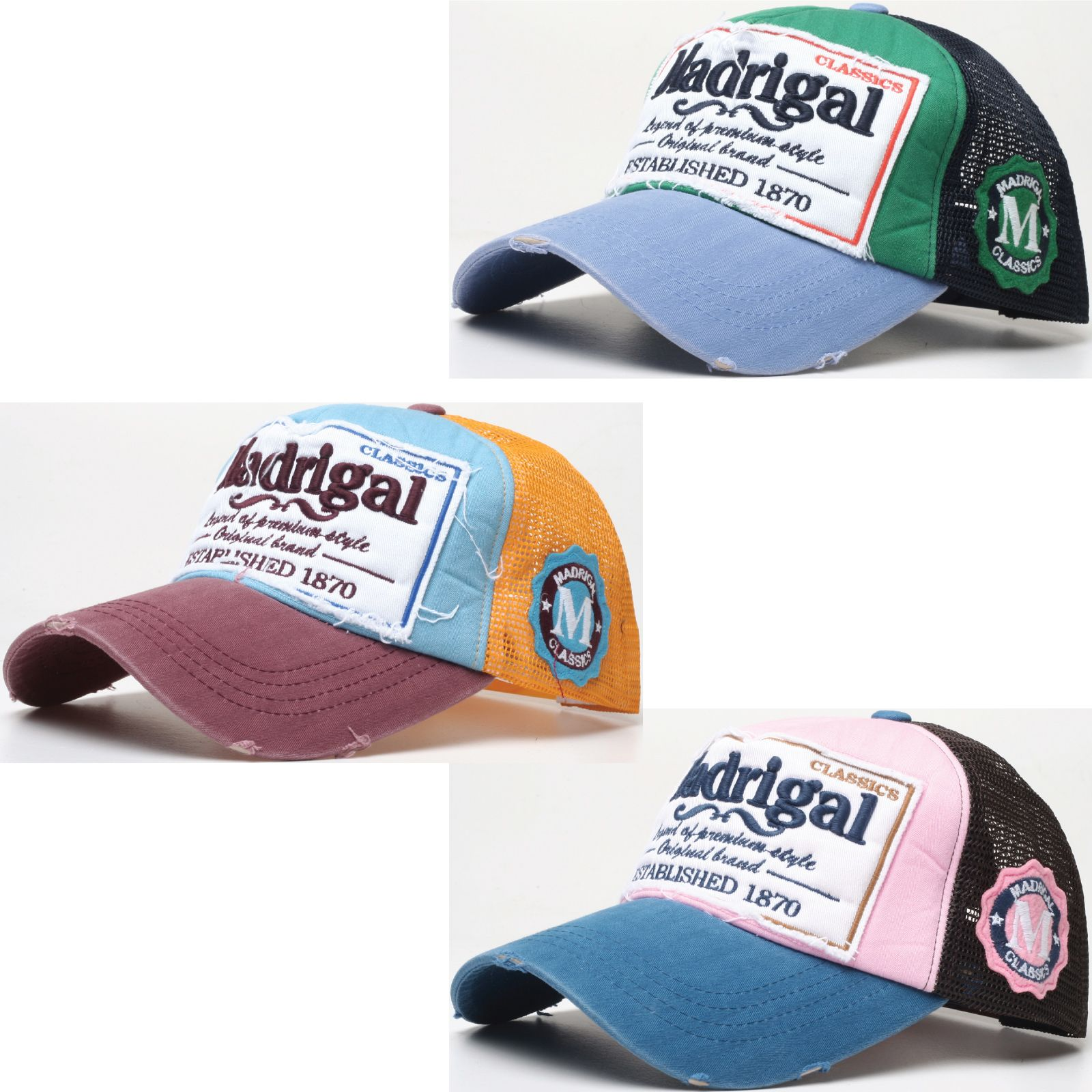 183e2677c0aa3 M30 New Vintage Distressed Patch Washed Design Cool Mesh Truckers Ball Cap