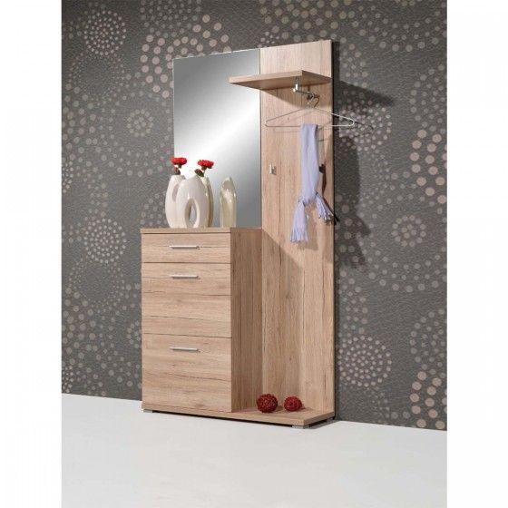 Meuble d\u0027entrée design chêne Sacremento ATYLIA petit meuble d