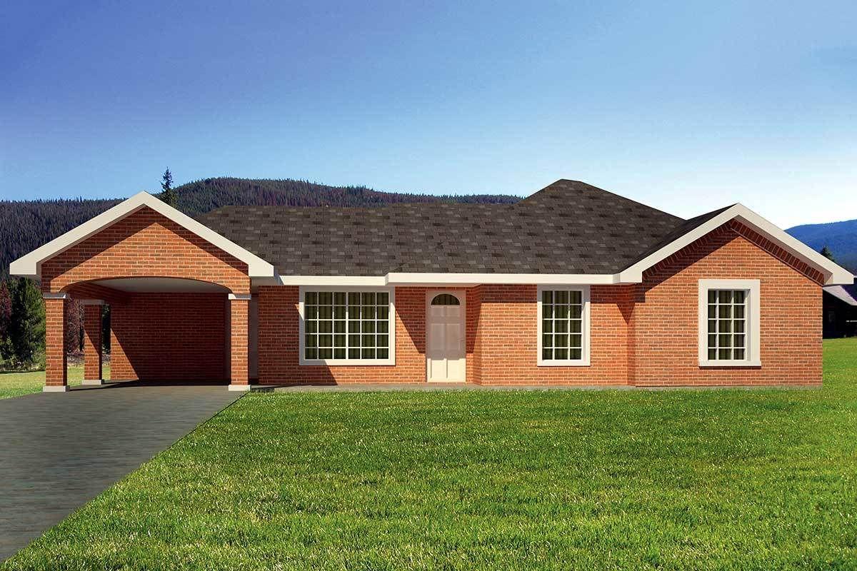 Plan 61032ks Brick Ranch Home Plan In 2020 Ranch House Plans House Plans Brick Ranch