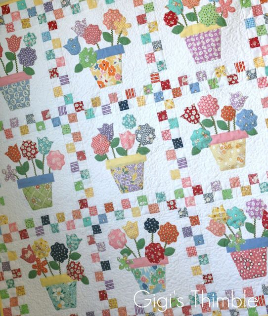 1930's Reproduction Feedsack Quilt, 1930