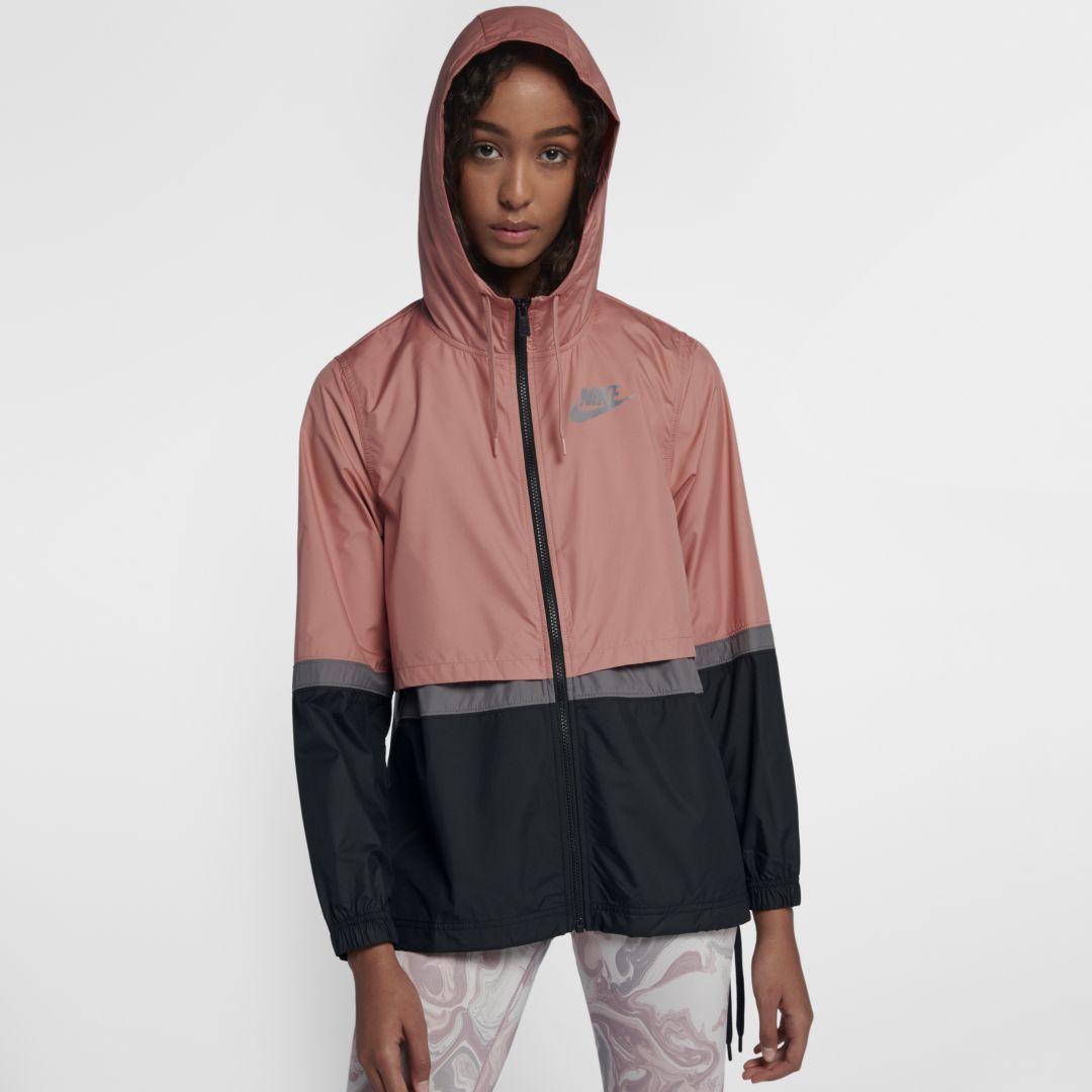 quality design c81ba 82430 Nike Sportswear Womens Woven Jacket Size XS (Rust Pink)