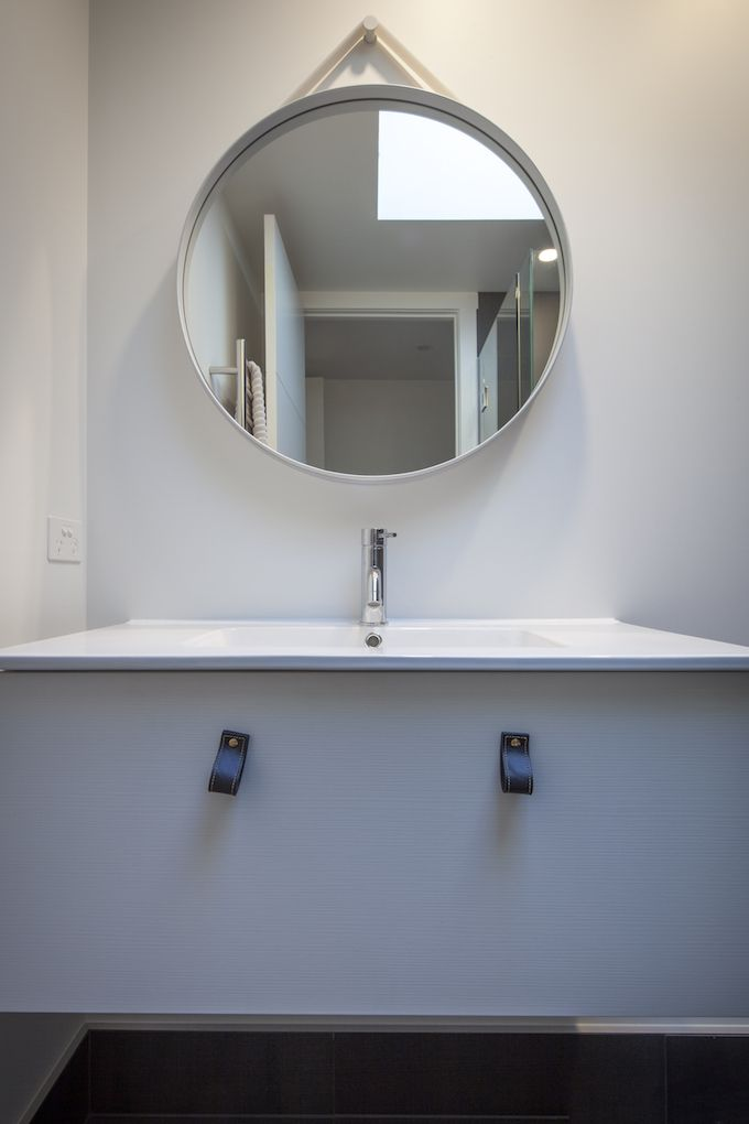 Bathroom Mirror Nz good bathroom trends for 2016. leather draw handles and round