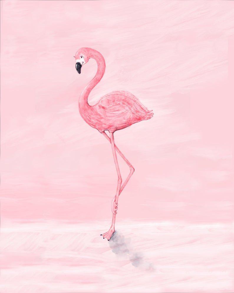 Flamingo Printnursery Decorgirl S Room Decorbaby Wall Etsy Flamingo Wallpaper Flamingo Art Print Pink Flamingo Wallpaper