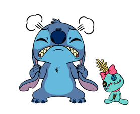 check out the Stitch: Animated Stickers sticker by The Walt Disney Company (Japan) Ltd. on chatsticker.com