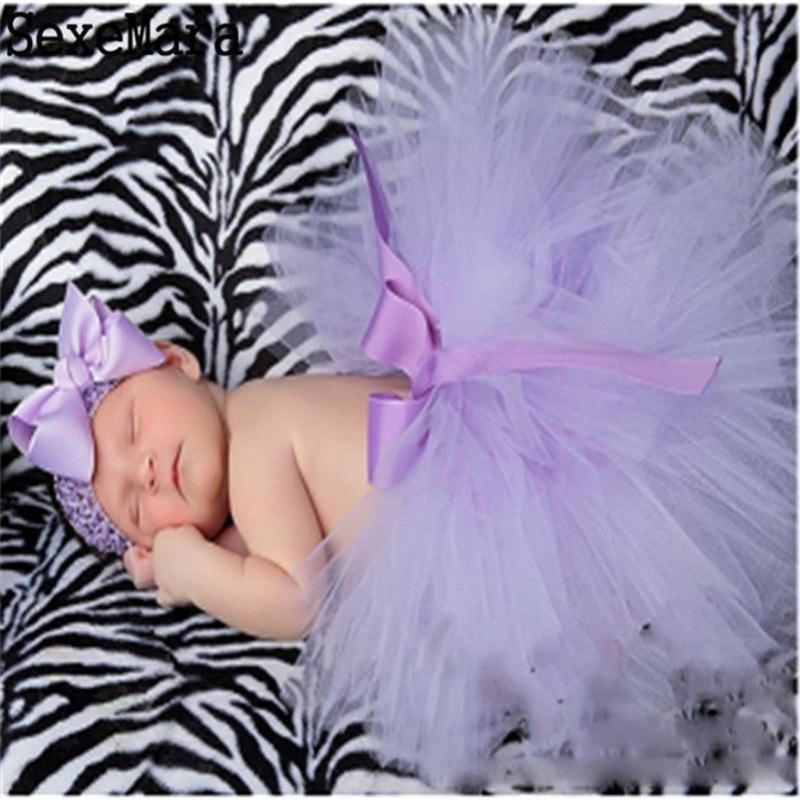 Pink Newborn Photography Props Costume Infant Baby Girls Cute Princess Skirt and