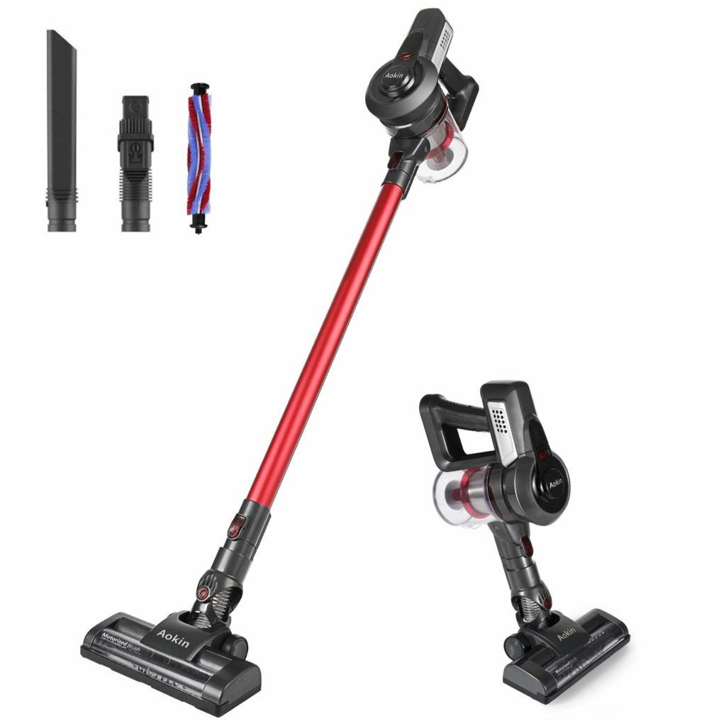 Aokin Cordless Vacuum Cleaner 12000pa Handheld Stick Vacuum Cleaner With Wall Mount And Hepa Filtration Lightweight Red In 2020 With Images Cordless Vacuum Vacuum Cleaner Cordless Vacuum Cleaner